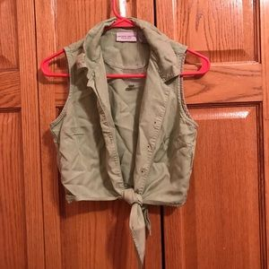 Light Green Cropped Vest